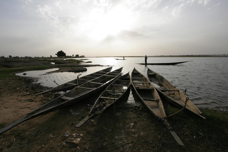 Sur les rives de Ségou au Mali, au bord du fleuve Niger.