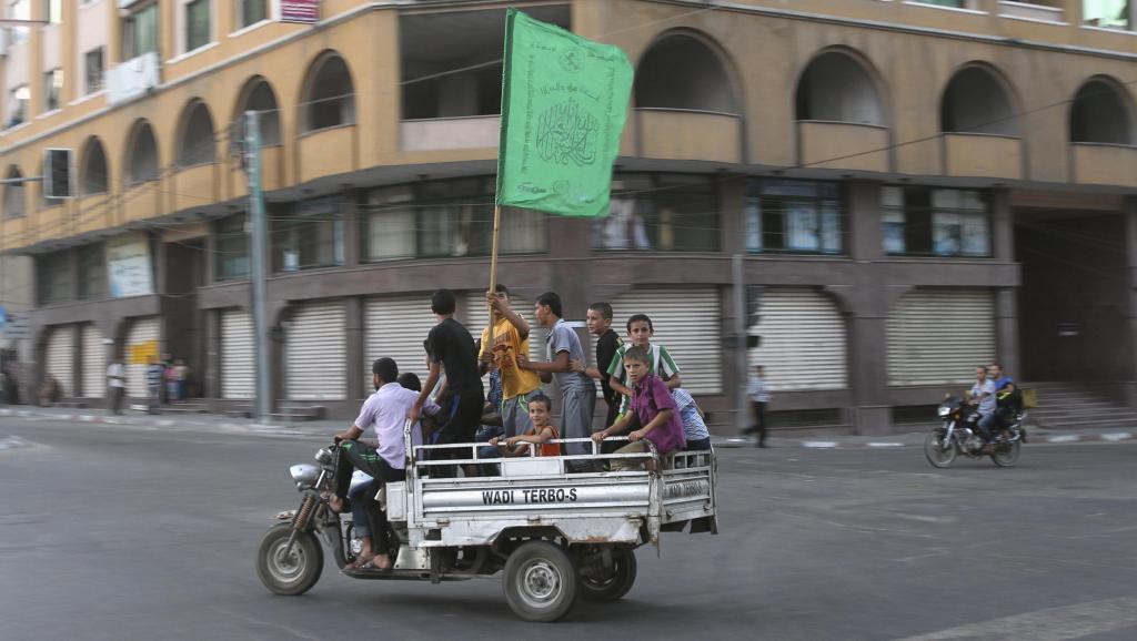 Bendera ya kijani ya Hamas ilipepea jumanne wiki hii nchini Palestina, baada ya tangazo la makubaliano ya kusitisha mapigano.