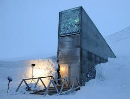 L'entrée de la chambre forte du Svalbard.