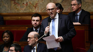 Laurent Pietraszewski, the new man in charge of pension reform, addressing the French National Assembly.