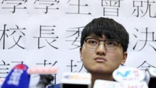 圖為香港大學前學生會主席馮敬恩