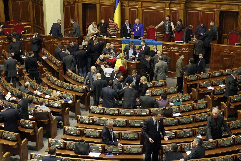 В Верховной Раде Украины (архив)