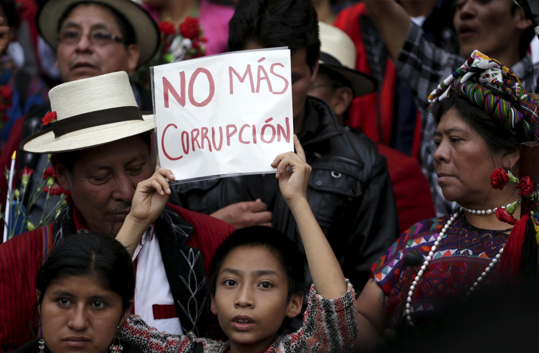 Manifestation contre la corruption au Guatemala, en mai 2015.