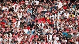 Khán giả luôn lấp kín khán đài trong các trận đấu của Premier League. Ảnh trận Sheffield United gặp Leicester City, ngày 24/08/2019.