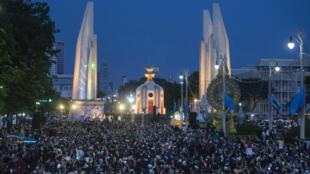 Des milliers de manifestants pro-démocratie s'étaient déjà rassemblés à Bangkok le 16 août 2020.