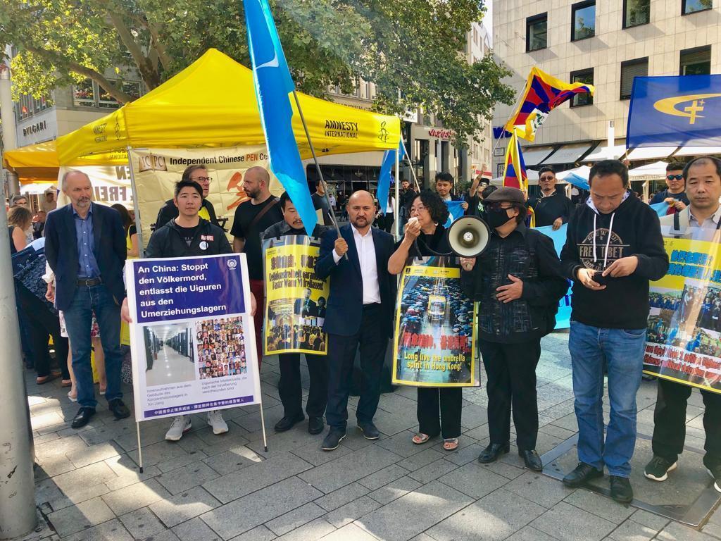 人权组织在科隆举办声援香港市民五大诉求示威活动 2019年9月14日