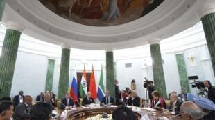 Reunión de los líderes de los BRICS, este 5 de septiembre en San Petersburgo.