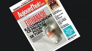 "Manchete do jornal Aujourd'hui en France desta segunda-feira: ""eles incomendam este produto para se matar"""