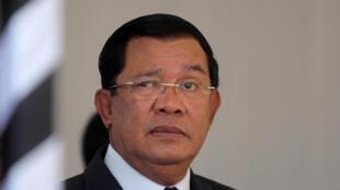 Le Premier ministre cambodgien Hu Sen, le 19 mars 2017 à Phnom Penh.