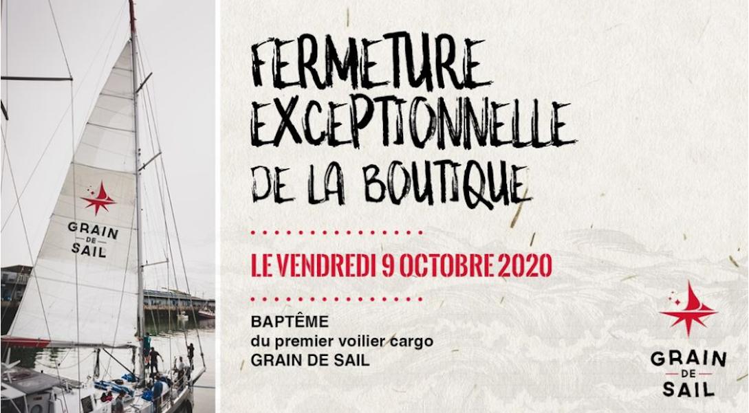 Le 9 octobre 2020 c'était le baptême du premier voilier cargo Grain de Sail.