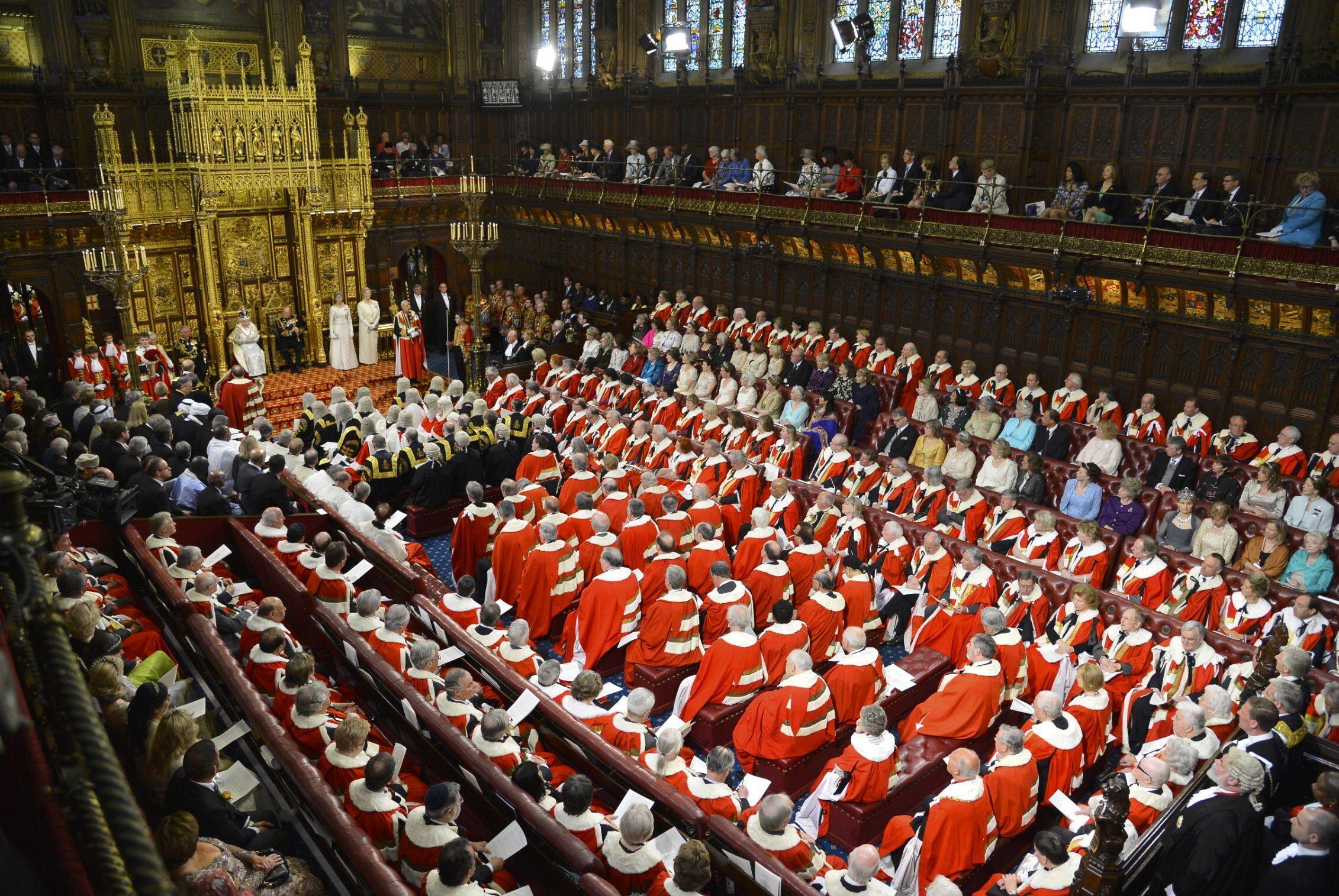 La Chambre des Lords au Parlement britannique.