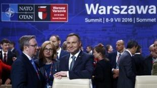 Presidente da Polónia, Andrzej Duda, que recebe apoio da NATO, na cimeira da oraganização atlântica que termina este sábado, 9 de julho