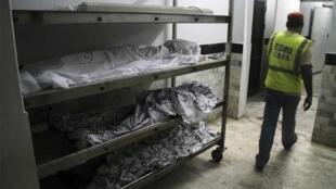 Bodies in a morgue in Karachi