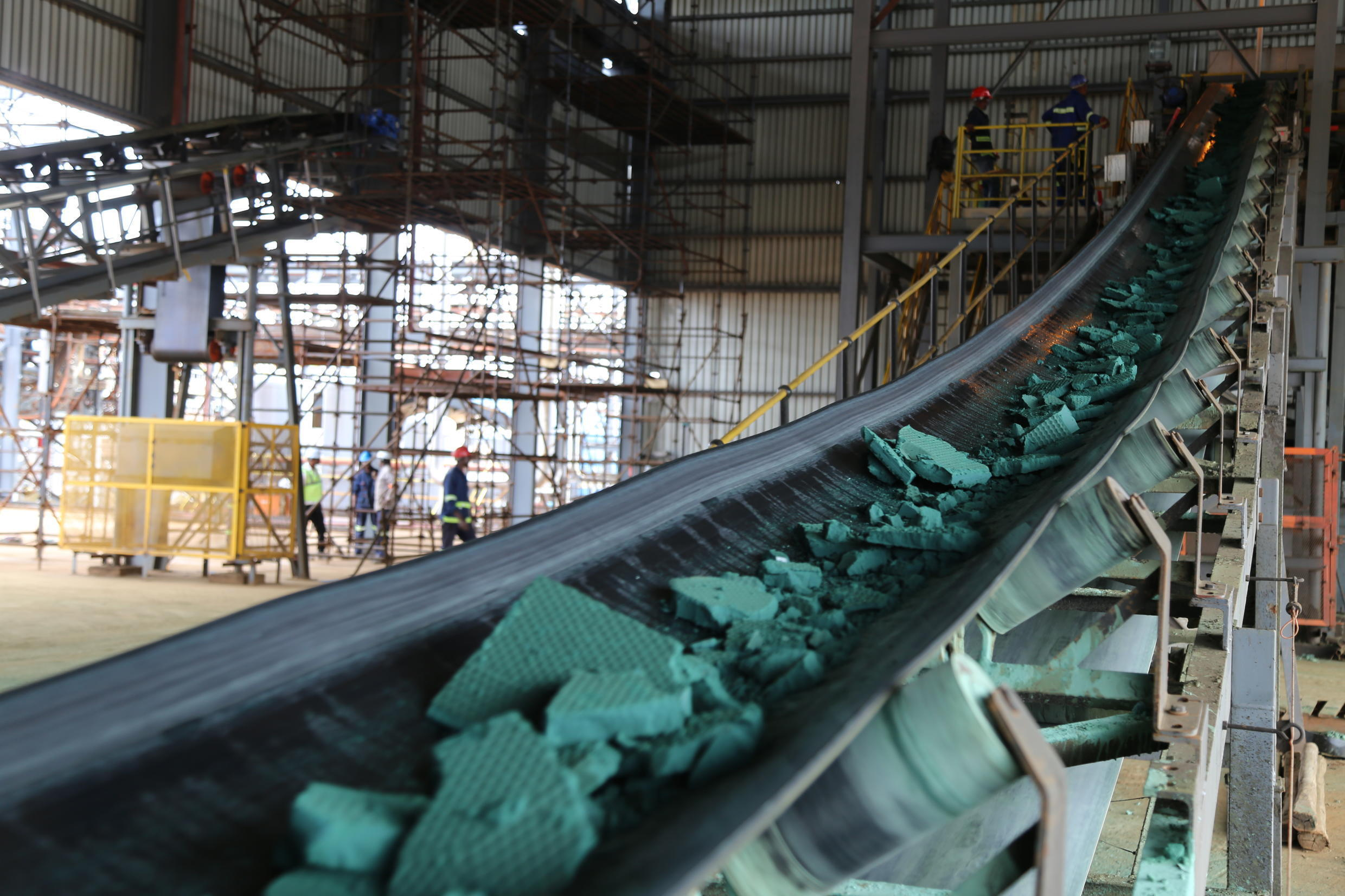 A cobalt plant in Lubumbashi, southeastern DR Congo. The vast central African country is rich in minerals but most of its people are poor