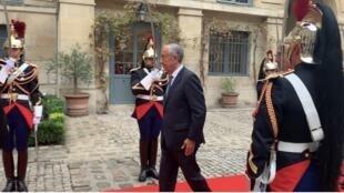 Chegada do Presidente português à Academia Francesa