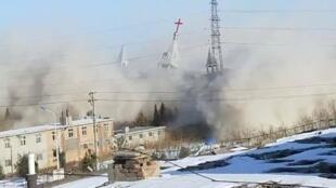 山西省金灯台教堂2018年1月9日被警方炸毁
