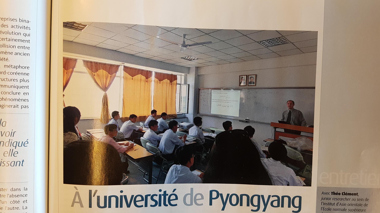 Một giờ học của sinh viên Bắc Triều Tiên trường đại học PUST với giảng viên nước ngoài.
