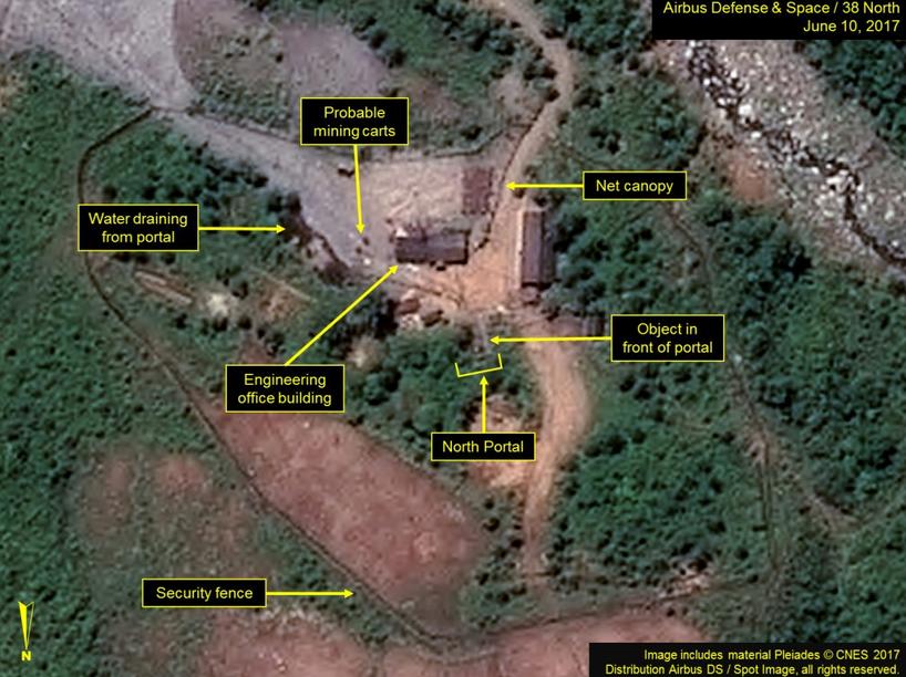 朝鮮豐溪里核試驗場衛星照片