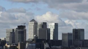 Trung tâm tài chính, ngân hàng ở phía đông Luân Đôn. (Ảnh chụp ngày 15/02/2016)