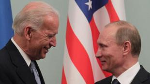 美國總統拜登與俄羅斯總統普京資料圖片