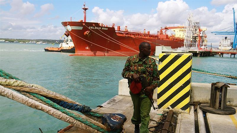 The oil tanker Celsius Riga sailed off with over 200,000 barrels of Kenya''s first oil export from the port of Mombasa