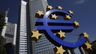 Sede del Banco Central Europeo, en Fráncfort, Alemania.