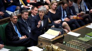 Thủ tướng Anh Theresa May phát biểu tại Nghị Viện, Luân Đôn, ngày 27/03/2019