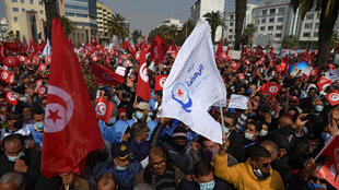 Tunisie manifestation partisans Ennahdha