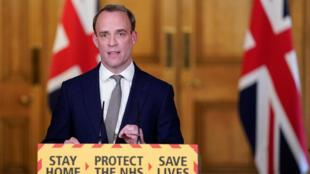英國外交大臣拉布資料圖片