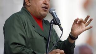Le président du Venezuela, Hugo Chavez.