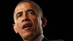 Le président Barack Obama s'adresse à ses compatriotes depuis Fort Myers en Floride, le 20 juillet 2012.