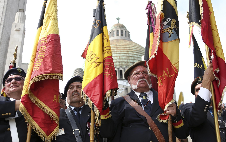 Cựu chiến binh tham dự lễ kỷ niệm 100 năm Thế chiến thứ nhất tại Liège, vương quốc Bỉ. Ảnh ngày 04/08/2014