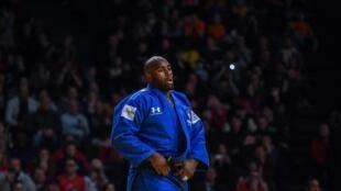 La réaction de Teddy Riner après sa défaite face au Japonais Kokoro Kageura, le 9 février 2020.