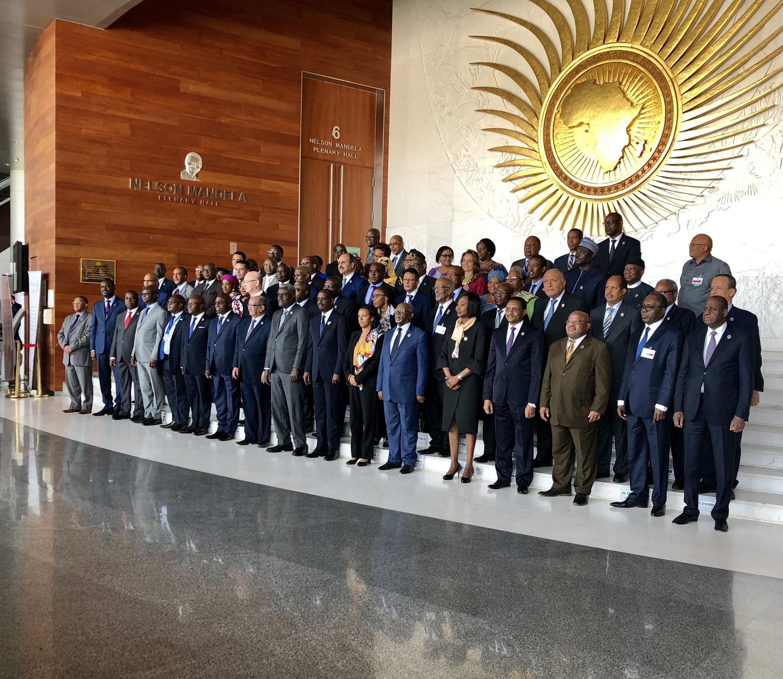 Fotografia de família da 34ª Sessão Ordinária do Conselho Executivo da União Africana