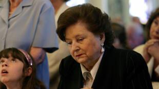 A 94 ans, la femme de Pinochet, Lucia Hiriart, ici en 2007, va être entendue par la justice chilienne dans une affaire de détournement de fonds.