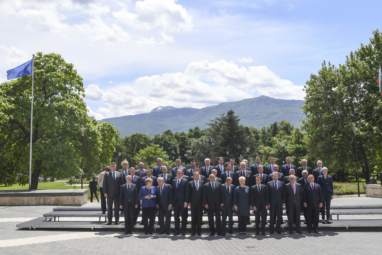 Les participants au sommet UE-Balkans à Sofia, le 17 mai 2018.