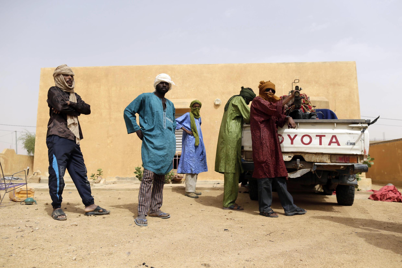 Des rebelles du MNLA (Mouvement national de libération de l'Azawad), membre de la CMA, à Kidal, dans le nord du Mali.