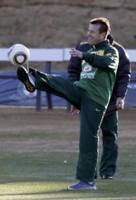Dunga, durante treino do Brasil em Johanesburgo.