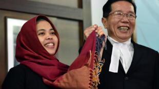 Cô Siti Aisyah, phụ nữ Indonesia đồng bị cáo trong nghi án ám sát Kim Jong Nam, được tự do ngày 11/03/2019.