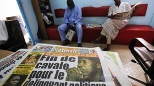 Une d'un quotidien ivoirien qui annonce l'arrestation du leader politique Charles Blé Goudé, le 18 janvier 2013.
