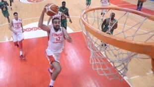 Le Tunisien Makrem Ben Romdhane lors de l'Afrobasket 2015.