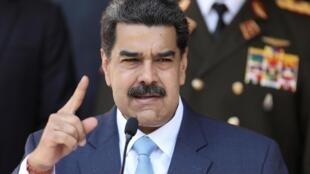 Le président du Venezuela, Nicolas Maduro, au Palais Miraflores à Caracas, le 12 mars 2020.