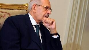 國際原子能機構前總幹事巴拉迪2013年7月6日在開羅總統府反對派會議上。