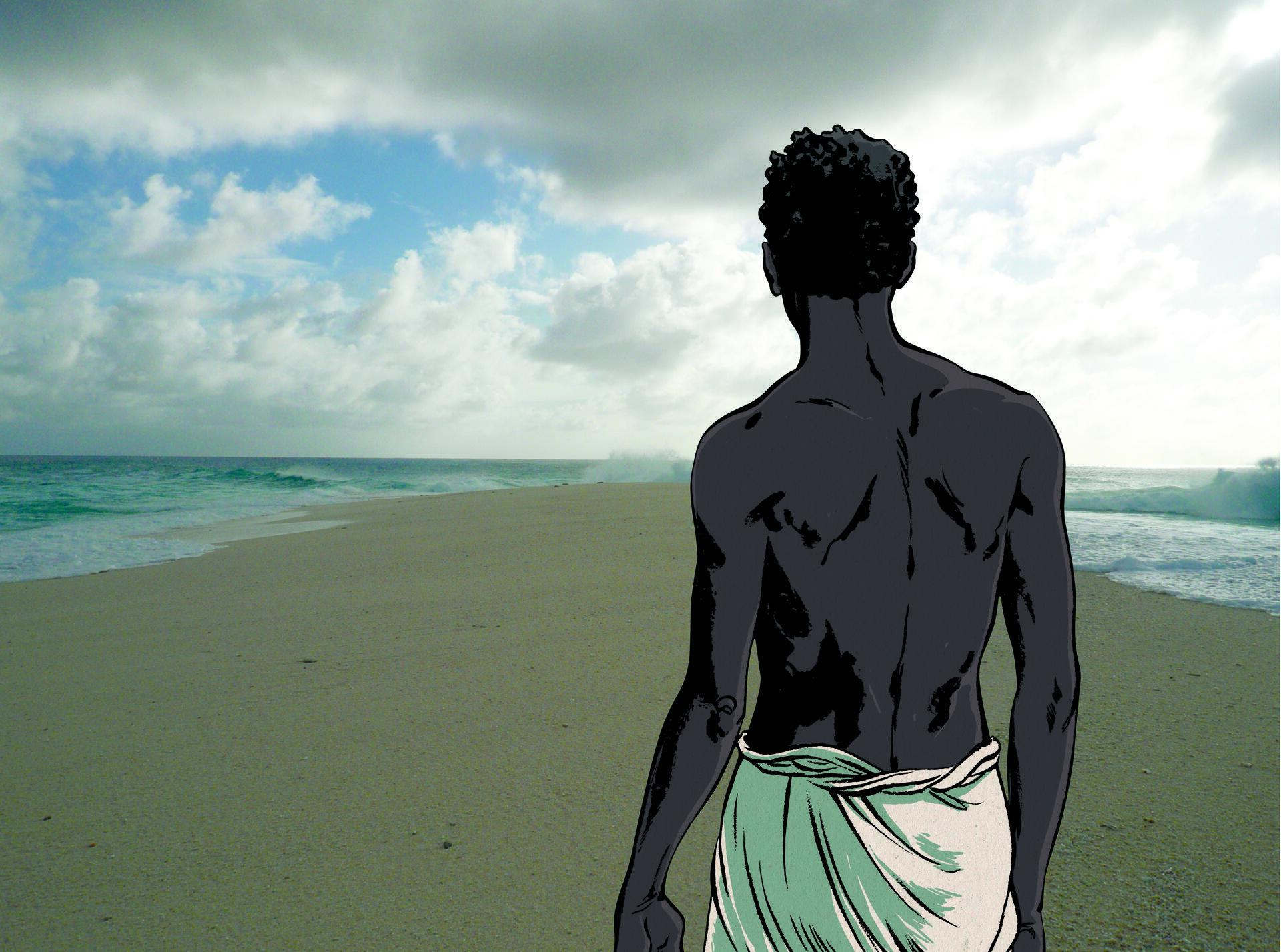 Afiche de la exposición sobre la isla de Tromelin en el Musée de l'Homme de París.