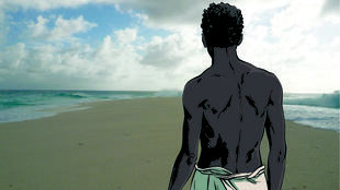 Affiche de l'exposition «Tromelin, l'île des esclaves oubliés» au Musée de l'Homme à Paris, jusquau 3 juin 2019.