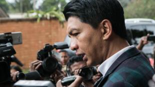 Le président malgache Andry Rajoelina le 27 mai 2019 à Antananarivo.