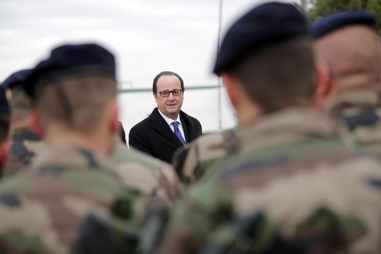 O presidente francês François Hollande no Iraque