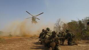 TF Sabre en exercice au Burkina Faso.