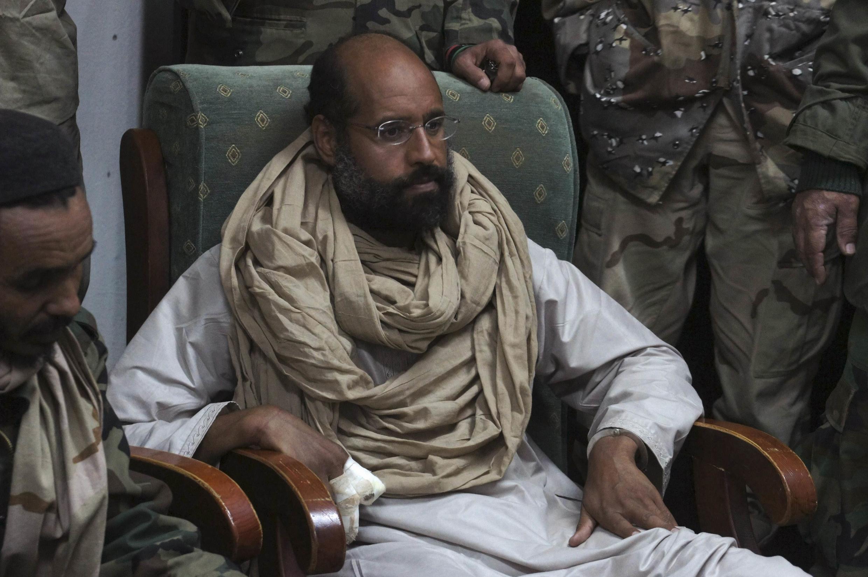 Seif al-Islam phe nổi dậy bắt vào tháng 11/2011 tại Zenten, cách Tripoli 160 cây số - REUTERS /Ammar El-Darwish