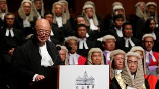 资料图片:香港终审法院首席法官马道立。摄于2017年1月9日